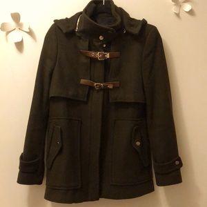 Zara wool military style coat size M